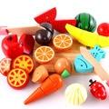 Новые Дети Деревянная Кухня Игрушки Красочные Притворяться Игрушки Развивающие Сократить Весело Игрушки для Детей Ребенок Вырезать Фруктов Овощей с Высоким Qulity