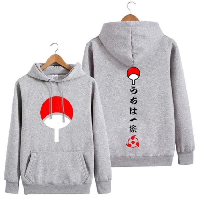Uchiha Clan Hoodie with Japanese Characters