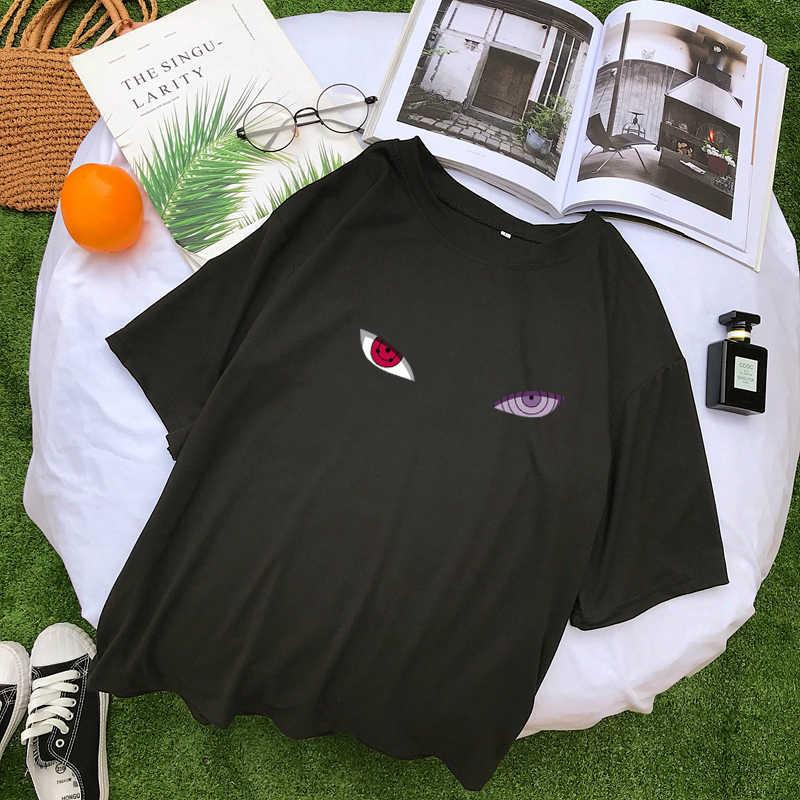 Харадзюку японского аниме Наруто, боруто футболка Летняя женская новая Kawaii мультфильм печатных короткий рукав Повседневная Уличная Tumnlr Топы