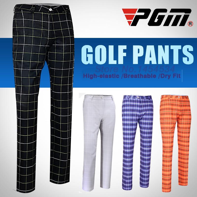 PGM Brand Men Plaid Pant New Slim Long Golf Sport Trousers Straight Tube Breathable Sweat Clothes Male Pantalon De Golf Apparel садовая пила raco 4216 53 313c