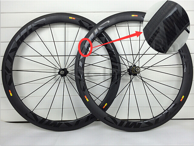 Twill Road Bike Matte 50mm Carbon Wheels Full Carbon Fiber Wheels