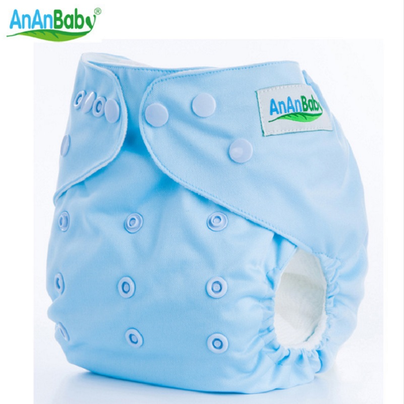 Ananbaby Baby Cloth Diaper Washable Solid Color Baby Reusable Cloth Diapers Nappy One Size Adjustable Many Color Available HA002