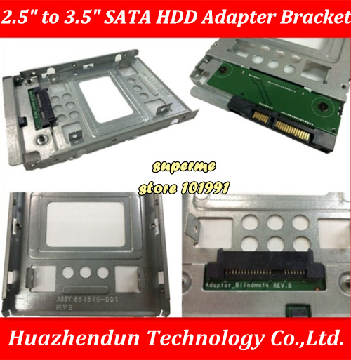 """hp 654540-001 SAS//SATA//SSD 2.5/"""" to 3.5/""""  Drive Adapter FOR 651314-001 X7K8W tray"""
