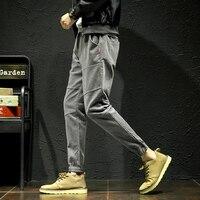 YASUGUOJI new 2019 pants men sweatpants joggers elasticity streetwear Japan cargo pants men corduroy pants Ankle Length Pants