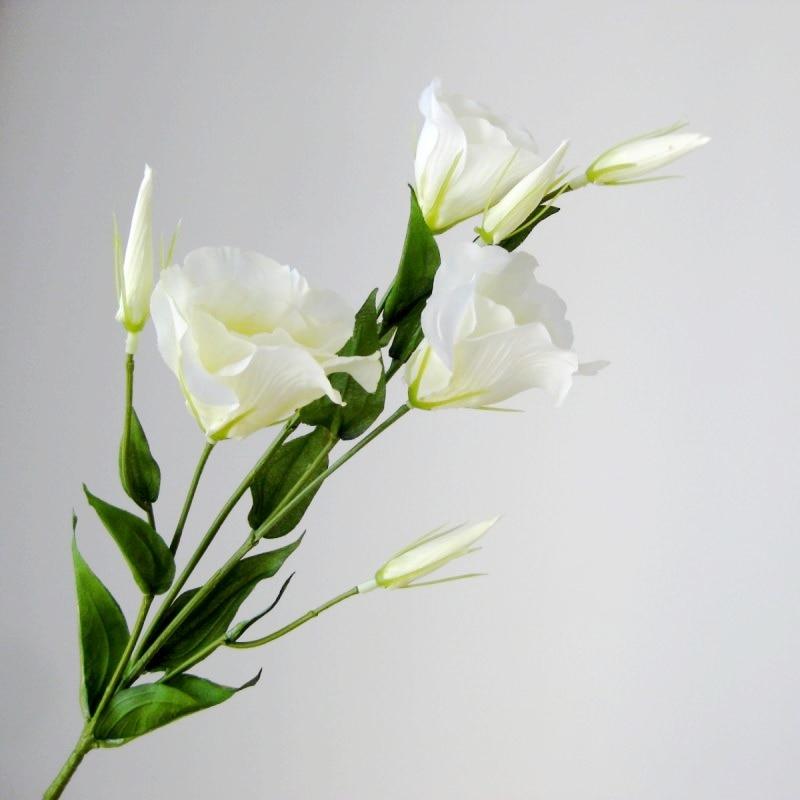 Güzel Lisianthus Yapay İpek Çiçek yüksek simülasyon parti ev - Tatiller ve Partiler Için