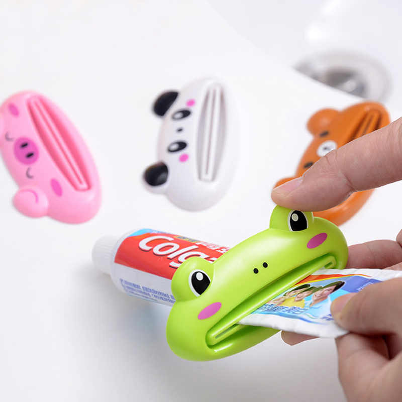 1Pc Creative Animal Multifunctionele Tandpasta Tube Squeezer Badkamer Accessoires Leuke Cartoon Hoge Kwaliteit Tandpasta Dispenser