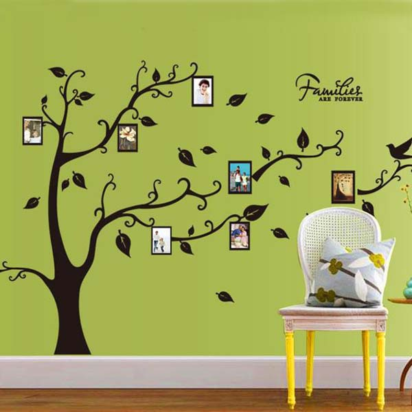 1set 120*170cm Family Tree Bird Photo Frame Nursery Wall Quotes Wall ...