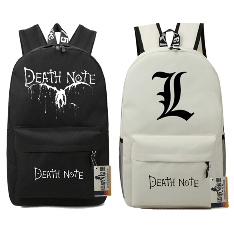 Death Note School Book Children Backpacks Movie Bag Teenages Fashion Nylon Shoulder Bag Students Film Travel Bag Mochila Escolar