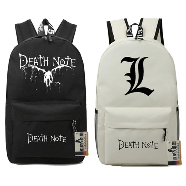 Death Note School Book Children Backpacks Movie Bag Teenages Fashion Nylon  Shoulder Bag Students Film Travel Bag Mochila Escolar add1ea7592684