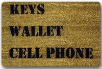WARM TOUR Custom It Keys Wallet Cell Phone Rectangular Decorative Non Slip Doormat