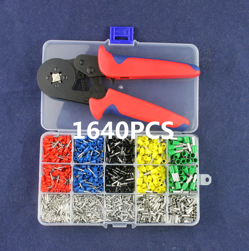 JRD Self-Adjustable Crimping Plier + Crimping Terminals Sets AWG24-10 Wire Cable Tube Terminals Crimping Pliers Multi Hand Tools