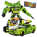 Kits de edificio modelo compatible con lego coche edificio modelo de robot 2 en 1 3d bloques educativos juguetes y pasatiempos para niños