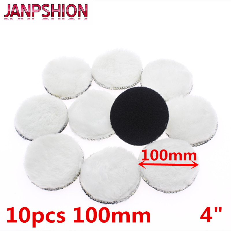JANPSHION 10pc 100mm Car Polishing Pad 4