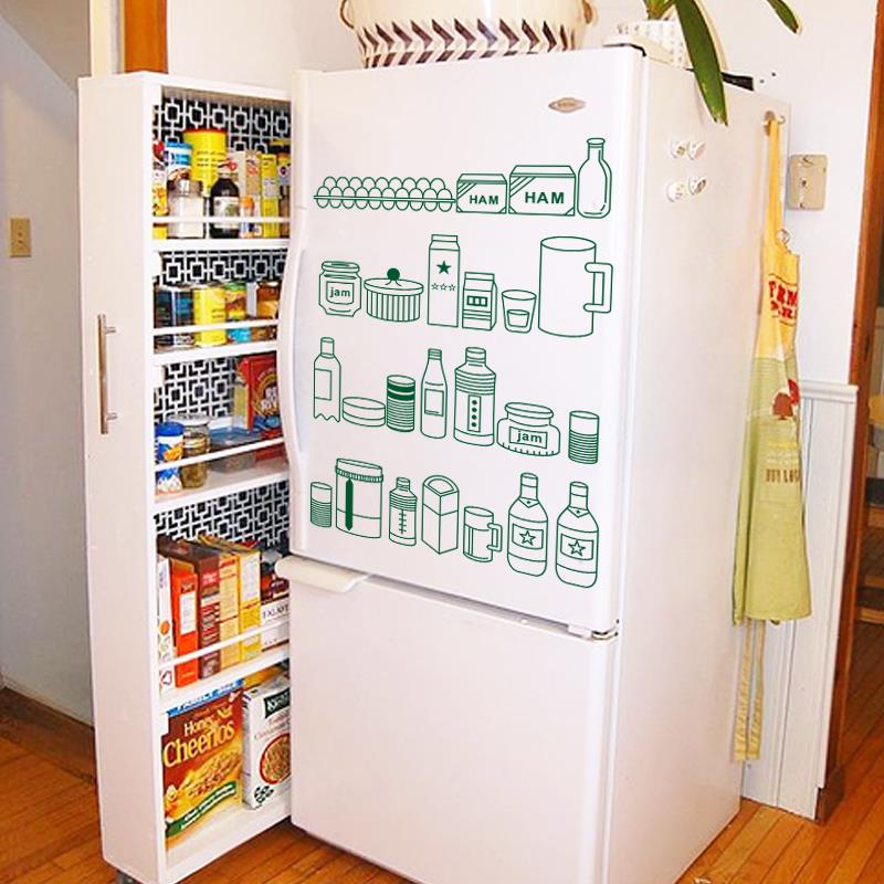 Art Decor 2015 New Design Cheap Waterproof Home Decor Cute Fridge Items Wall Stickers For