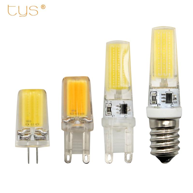 Лампада <font><b>LED</b></font> G4 <font><b>G9</b></font> лампа AC/DC затемнения 12 В 220 В 3 Вт 6 Вт <font><b>COB</b></font> SMD lampara светодиодное освещение свет заменить галогенные фары люстры