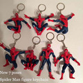 New Good PVC Fashion Classic Anime Hero Spider Man Keychain Spiderman Action Figure Toy Men Keyring Pendant Gift 7 Poses