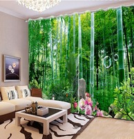 3d curtains for bedroom living room window curtain Bamboo forest scenery