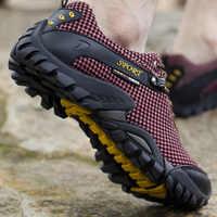 Verano al aire libre senderismo zapatos hombres malla transpirable camping escalada trekking zapatos hombres tácticos senderismo zapatos hombres senderismo zapatillas