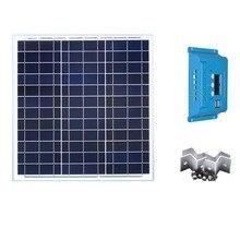 Solar Kit Panel 12v 40w Poly Charge Controller 12v/24v 10A Module Mount Car Caravan Camp Rv Off Grid Motorhome