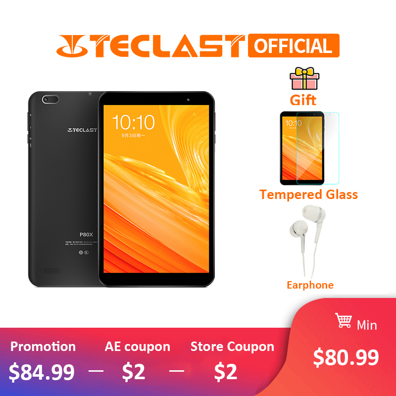 Teclast P80X 4G Phablet Android 9.0 tablettes 8 pouces 1280x800 tablette PC SC9863A Octa Core 2 GB RAM 16 GB ROM GPS double caméra