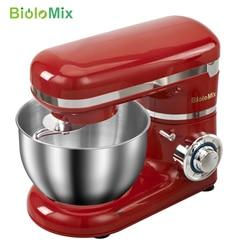 Миксер из нержавеющей стали, кухонное устройство для взбивания сливок, яиц, теста для хлеба, 6 скоростей, чаша объемом 4 литров, венчик, 1200 Вт