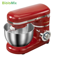 1200W 4L Stainless Steel Bowl 6 speed Kitchen Food Stand Mixer Cream Egg Whisk Blender Cake Dough Bread Mixer Maker Machine