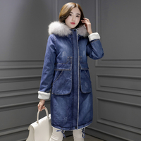 Winter Long Bomber Women Long Cotton Spring Autumn Bomber Coat Jeans Denim Jacket Ladies Windbreaker Female