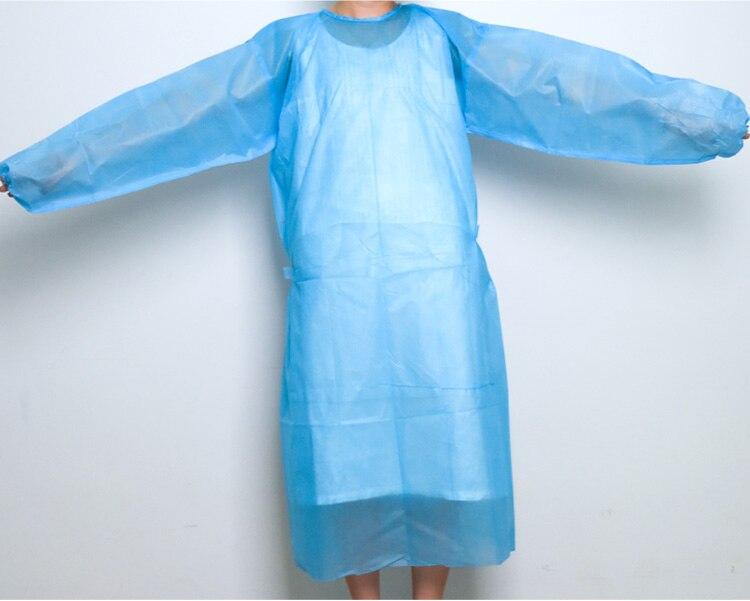 25 шт. одноразовые хирургический тонкий и легкий пыли одежда тканые комбинезоны визит, нетканые фартуки, хирургическая Одежда