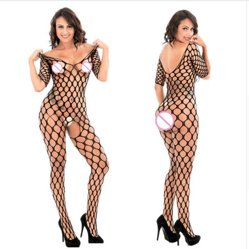 Lingerie erótica transparente de malha, plus size, sexy, virilha aberta, body, roupa íntima erótica
