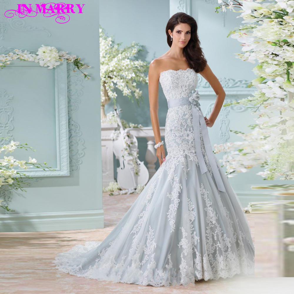 Pics for pale blue lace wedding dress for Light blue lace wedding dress