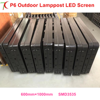 China factory directly sales P3/P4/P5/P6 outdoor waterproof Lamp pole led screen for advertisement display