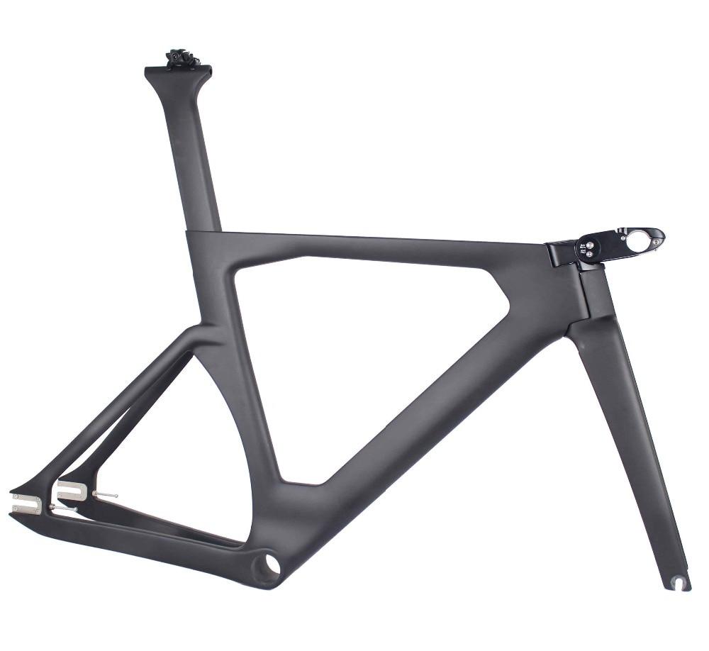 MIRACLE 2019 Aero Piste vélo nouveau cadre en Carbone cadre De Piste De Carbone UD armure 700c Piste cadre de vélo/fourche/selle /tige