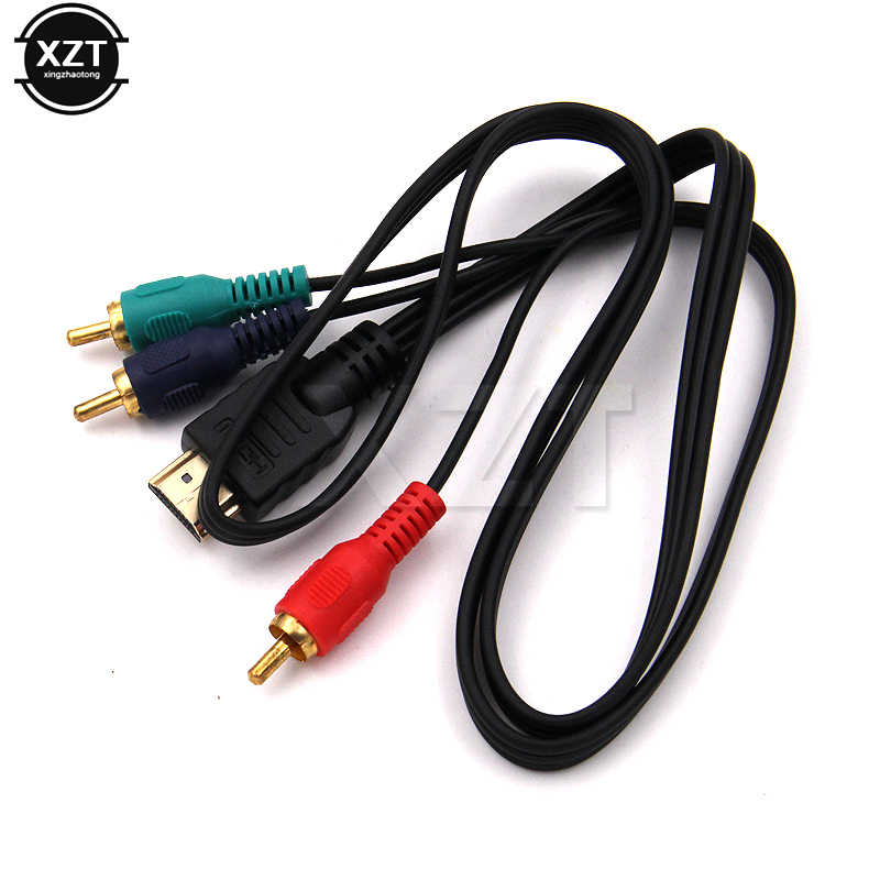 1080P HDTV HDMI Male to 3 RCA Audio Video Componen VGA AV Cable Cord Adapter Converter hot sale