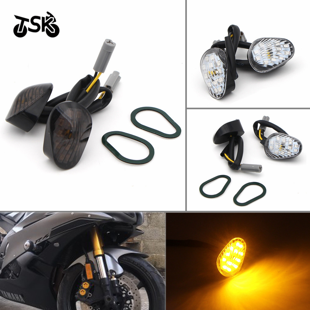 LED Turn Signal Light Indicator Lamp Flush Mount For Yamaha YZF R1 R6 R6S Motorcycle accessories