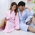 Hilift 100% хлопок халаты тонкие летние 100% хлопок любителей халат халат средней длины плюс размер