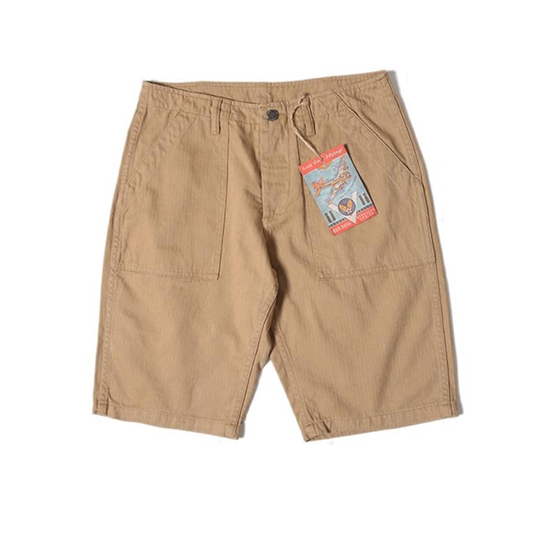 BOB DONG Reproduction Vietnam War HTB Army Cargo Shorts Military Mens Straight Khaki Short Pants Summer Trousers Plus Size