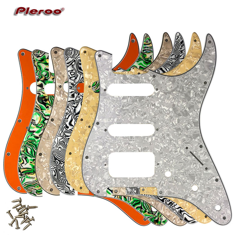 Pleroo Guitar Parts - For USA\Mexico Fd Stratocaster 72' 11 Screw Hole Standard St Humbucker Hss Guitar pickguard Scratch Plate