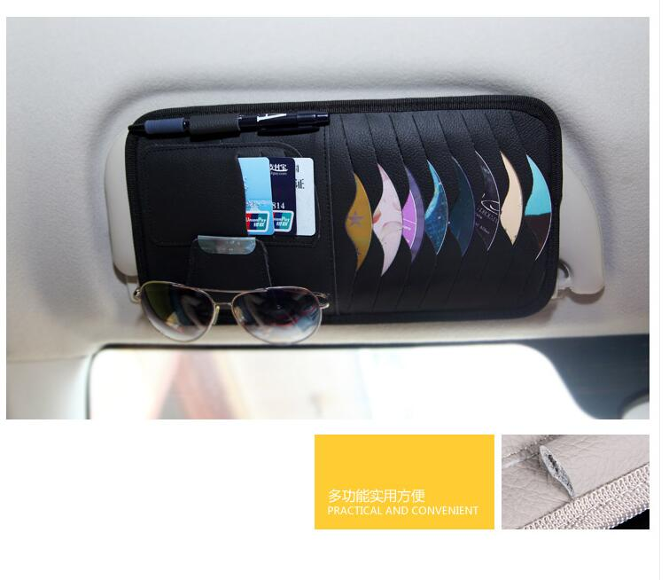 Car sun shading board multifunctional leather DVD box suitable for AUDI a1 a3 a4L a4 a5 a6 b8 c5 c6 b7 a6L a7 a8L S5 S a8 S8