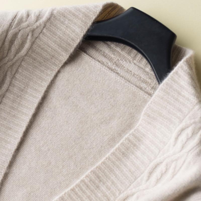 Et Chaude Couleur D'hiver Lâche Tricots Nouvelle Picture Fille 2 Cardigans Chandails Pur Vente Tops Chandail Mode Vêtements Cachemire Femmes 100 picture Longue C5W760q