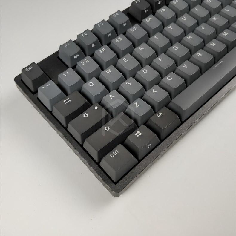 Durgod 87 taurus k320 clavier mécanique utilisant des commutateurs cherry mx pbt doubleshot keycaps marron bleu noir rouge argent commutateur - 6