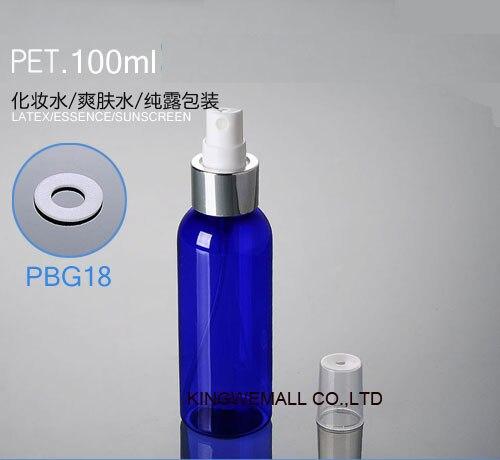 300 шт/партия Розничная 100CC Мелкодисперсный распылитель бутылки, белый маленький пустой спрей бутылка 100 мл PWG18