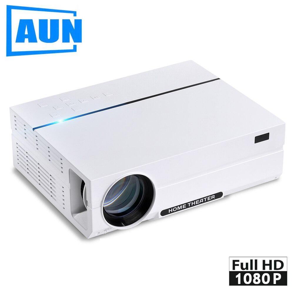 AUN Full HD Proiettore AKEY4. 1920*1080, 3,600 Lumen HA CONDOTTO il Proiettore con HDMI, USB, VGA, Altoparlante. Ultra-Silenzioso LED TV