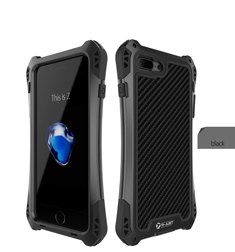 Case for iPhone 7 7 Plus 	Luxury Metal Aluminum Armor Waterproof Shockproof + Gorilla Tempered Glass Cases Cover