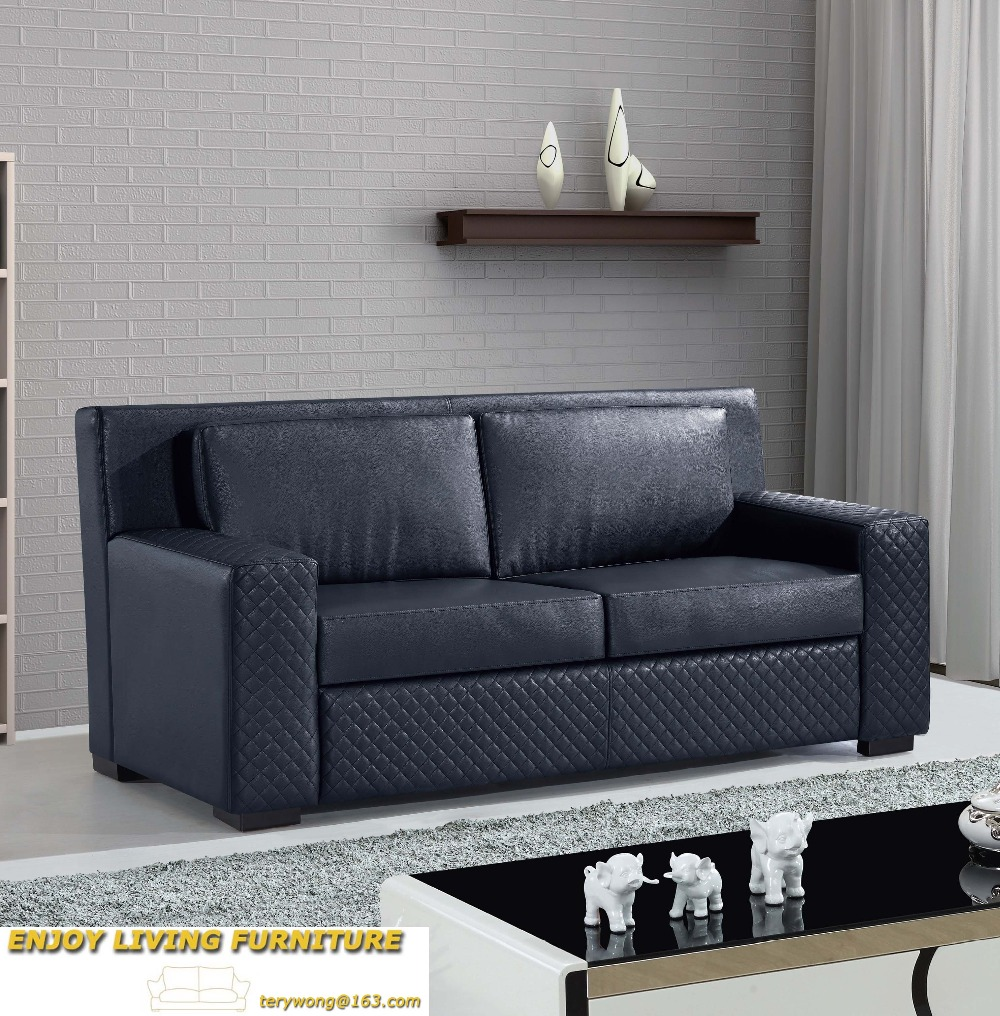 LANGRIA Modern Convertible Split Back Linen Futon Sofa Bed Couch ...