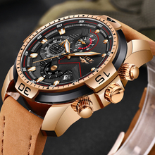 купить LIGE Men's Fashion Casual Sport Quartz Watch Mens Watches Top Brand Luxury Leather Drop Shipping Wrist Watch Relogio Masculino по цене 1979.28 рублей