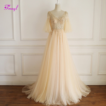 fsuzwel Elegant V-neck A-Line Evening Dress 2019 Prom Dress