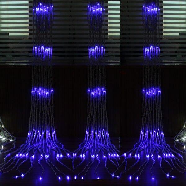 Открытый елки Свадебные украшения Поставки Водонепроницаемый лампы украшения светодиодный фонарь свет шнура мигалкой Width6m, high3m