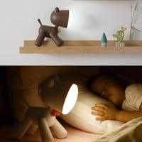 작은 강아지 led 테이블 램프 독서 책상 램프 강아지 밤 빛 홈 침실 장식 usb 충전식 빛 어린이 선물