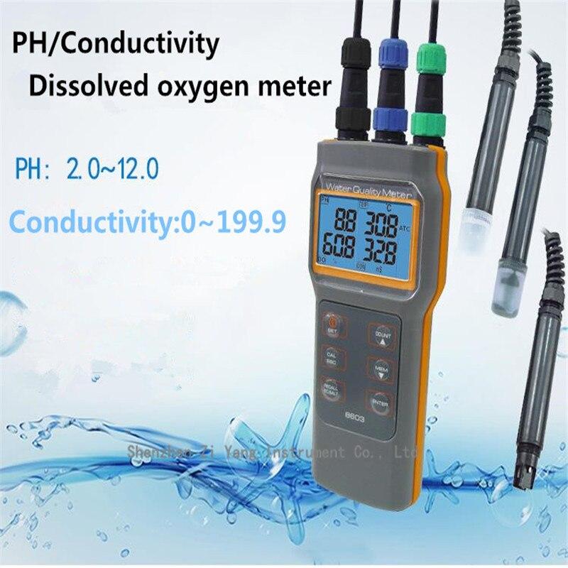 AZ8603 Portable Dissolved Oxygen Conductivity Salinity PH or acidity test Dissolved oxygen device az86031 online dissolved oxygen meter with water quality dissolved oxygen tester ph meter conductivit salinity