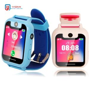 Image 1 - Reloj inteligente para niños S6 reloj para bebés SIM GPRS rastreador en tiempo Real reloj inteligente antipérdida para niños con cámara PK Q528 Q50 Q90